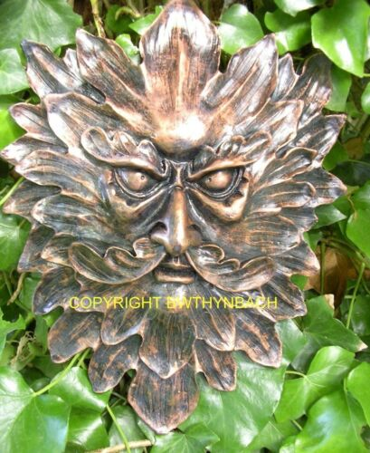 NEW RUBBER LATEX MOULDS MOULD MOLD PAGAN WICCAN GREENMAN GREEN MAN WALL PLAQUE 5