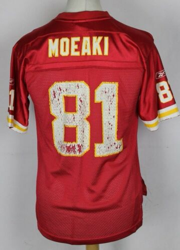 MOEAKI #81 KANSAS CITY CHIEFS NFL AMERICAN FOOTBALL JERSEY YOUTHS LARGE