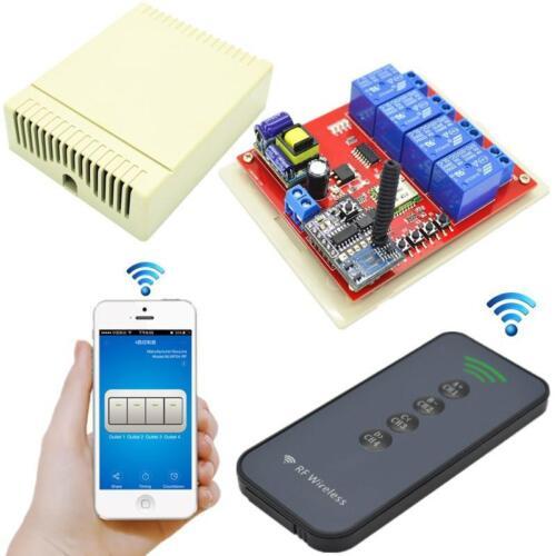 Trasmettitore+ricevitore Modulo Interruttore Relè Remoto Wireless 220v 4CH