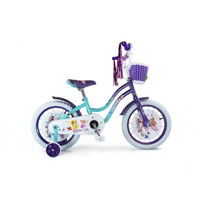 Micargi ELLIE-G-16-BBL-PP 16 in. Girls Bicycle Baby bluee & Purple