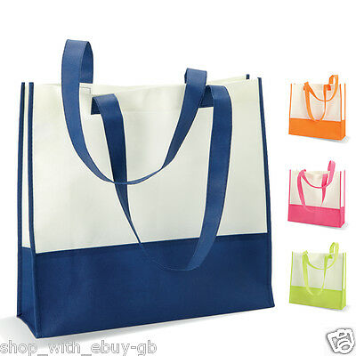 Stylish Ladies Beach Bag Non Woven Two Tone Shopping Tote Summer Shoulder Large