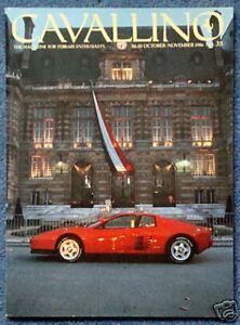 No 107 Oct Cavallino Ferrari Magazine Nov 1998
