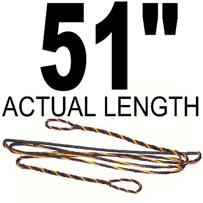 """51/"""" INCH ACTUAL LENGTH 12 STRAND Recurve Bow BOWSTRING B-50 DACRON Archery Bow"""