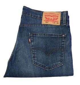 Levis-511-Herren-Original-Jeans-Blau-Brandneu-Komfort-Stretch-Passform-Reissverschluss-Tapered
