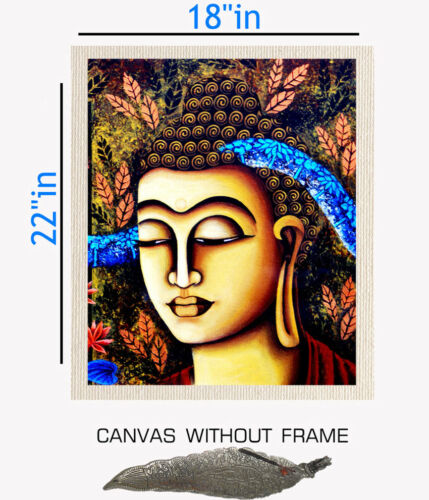 Digitally Printed Budha Canvas painting without frame Incense Stand 18x22