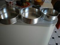 Never Used Tinned Steal Springform Cake 3 Pans For Baking 11, 10 9 Nice