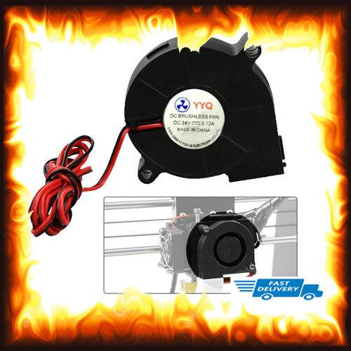 24 V DC 50 mm 15 mm golpe Ventilador radial Impresora 3D extremo caliente//Extrusora Soplador
