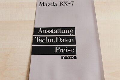 116451) Mazda RX-7 - Preise & technische Daten & Ausstattungen - Prospekt 01/198