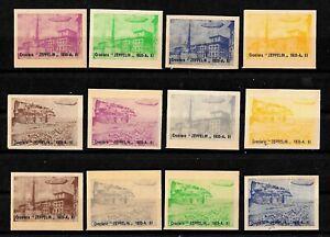 Erinnofila-1933-Crociera-Zeppelin-Lotto-da-12-erinnofili