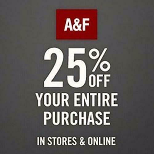 25% off $75+ Abercrombie & Fitch Promo-Coupon Code Ex 3/4/21 Online/In Store