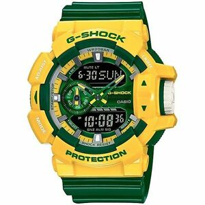 Casio-G-Shock-Mens-Wrist-Watch-GA400CS-9A-GA-400CS-9A-Crazy-Colours-Green-Yellow