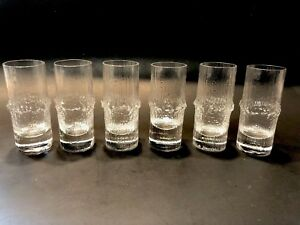 6-Iittala-Finland-Niva-Vodka-Set-Shot-Glasses-MCM-Scandinavian-Design-Wirkkala