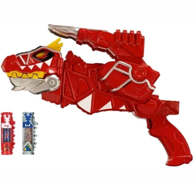 Power Rangers Dino Super charge Deluxe T-Rex Morpher Red Toy gun Chargers MM