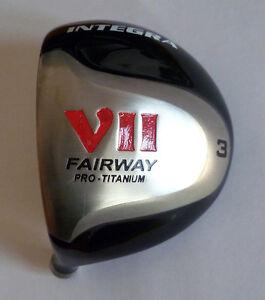 Integra-Golf-VII-Left-Handed-Titanium-15-3-Wood-Head-Only-New