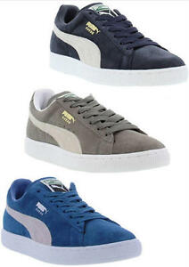 Image is loading Puma-Suede-Classic-Blue-Mens-Womens-Leather-Trainers- 69d78e36a