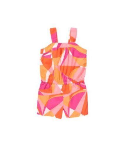 NWT Gymboree Girls Bright and Beachy Geo Romper Size 4 5 /& 6