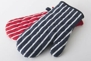 100-Cotton-Butcher-Stripe-Kitchen-Apron-Quilted-Single-Double-Oven-Gloves-Mitts