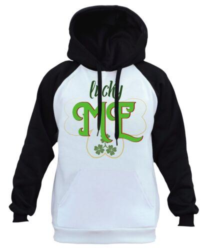 capucha Patrick's Ireland Irish Clover con raglán B459 para Sudadera hombre Me Green Lucky St g5ACwx