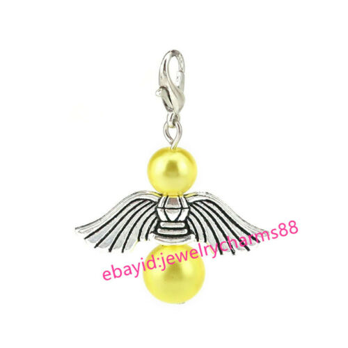 10PCS Modern Colorful Beads Charm Guardian Angel Wings Diy Pendant For Jewelry
