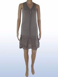 sharon-b-donna-abito-vestito-stretch-made-italy-grigio-nero-blu-taglia-m-medium
