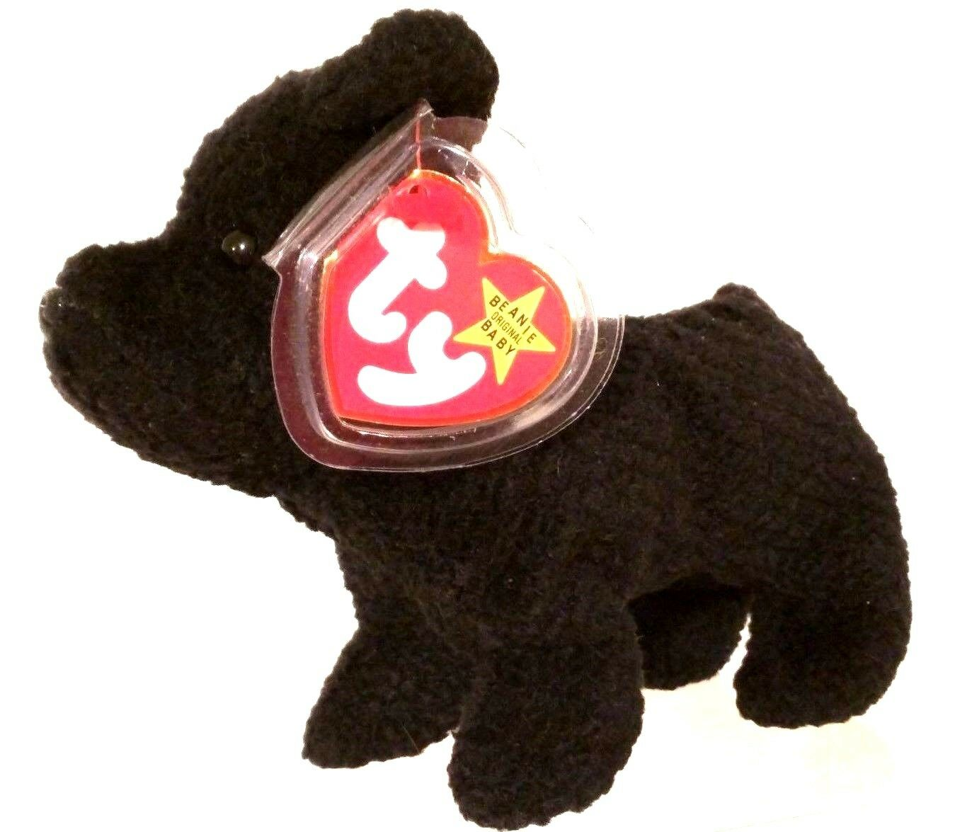 TY TY TY BEANIE BABIES 1996 Scottie the Scottish Terrier with Tag Errors RETIRED MWMT 36d8c3