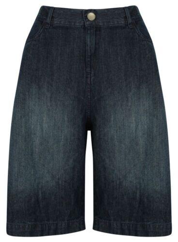 Donna Pantaloncini Di Jeans Corto CAPRI nuovi comodi grandi Big Taglie Forti Da Donna Spiaggia Nuovo