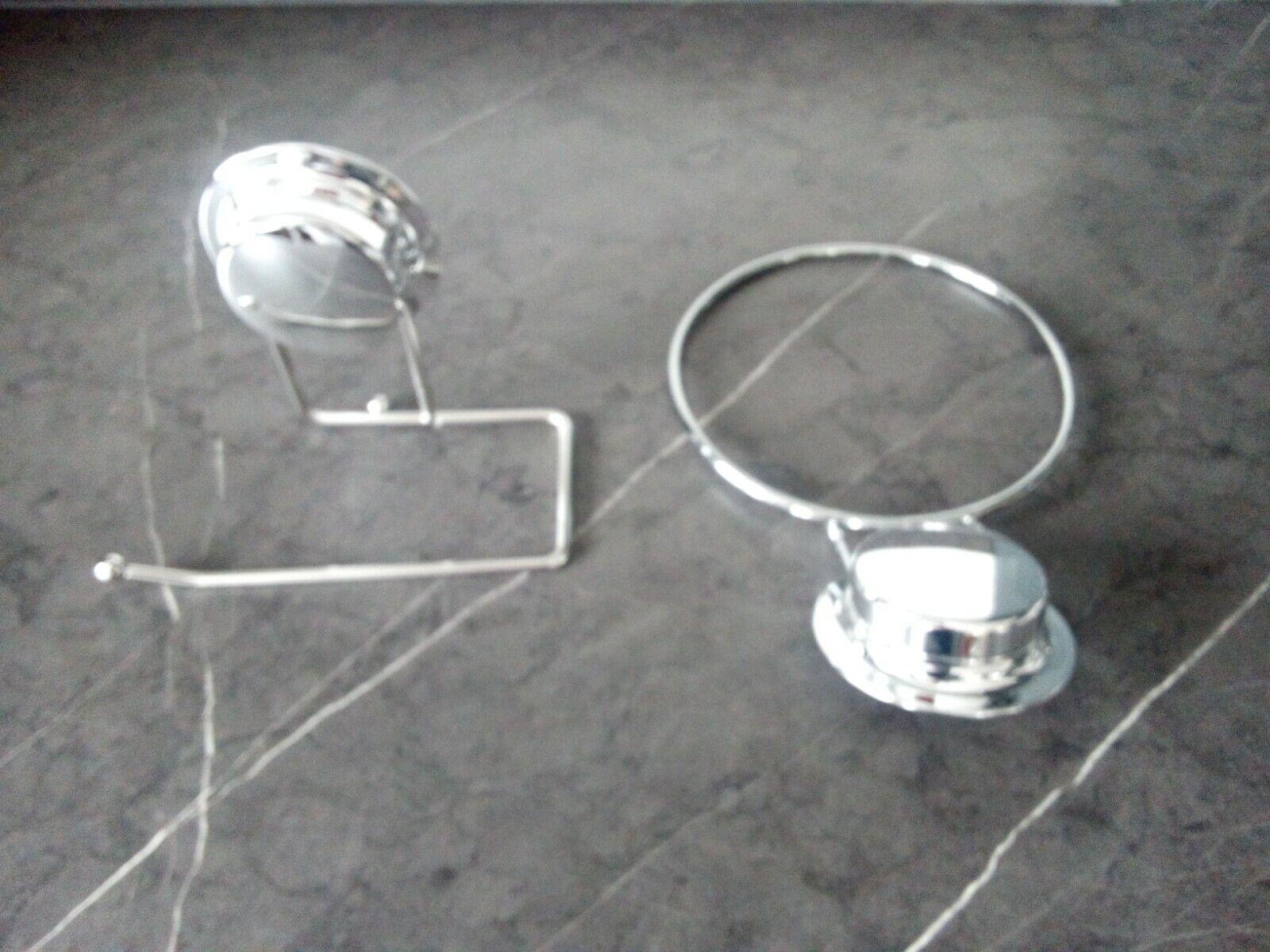 Bathroom Accessories Set Silver.