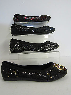 Girls H2186 black//silver sequin textile slip-on by spot on Retail Price £2.99