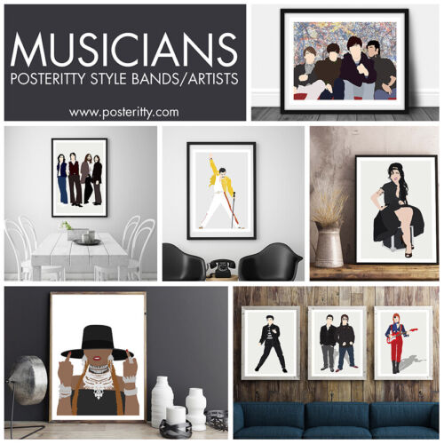 DAVID BOWIE Music Icon Minimalist Poster Posteritty Minimal Wall Art Print