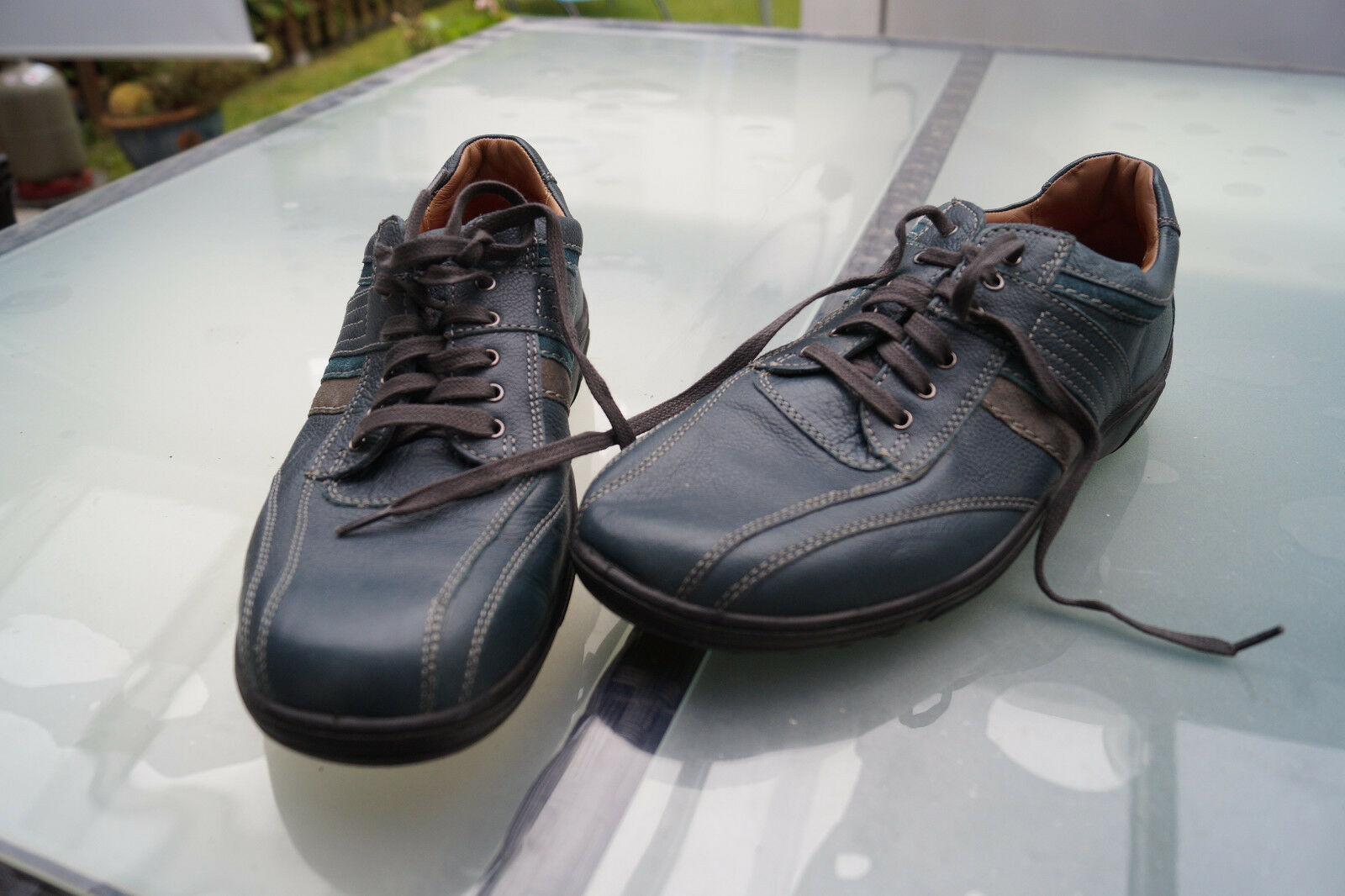 JOMOS air comfort Herren Schuh Sneaker schnürer Gr.44 Leder Sofsole Einlagen #1k