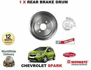 FOR CHEVROLET SPARK 1.0 1.2 2010-/> 2X REAR  LEFT RIGHT SET BRAKE DRUM 96471279