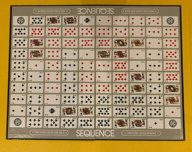 Game Board Only Original Part for 2007 SEQUENCE Board Game