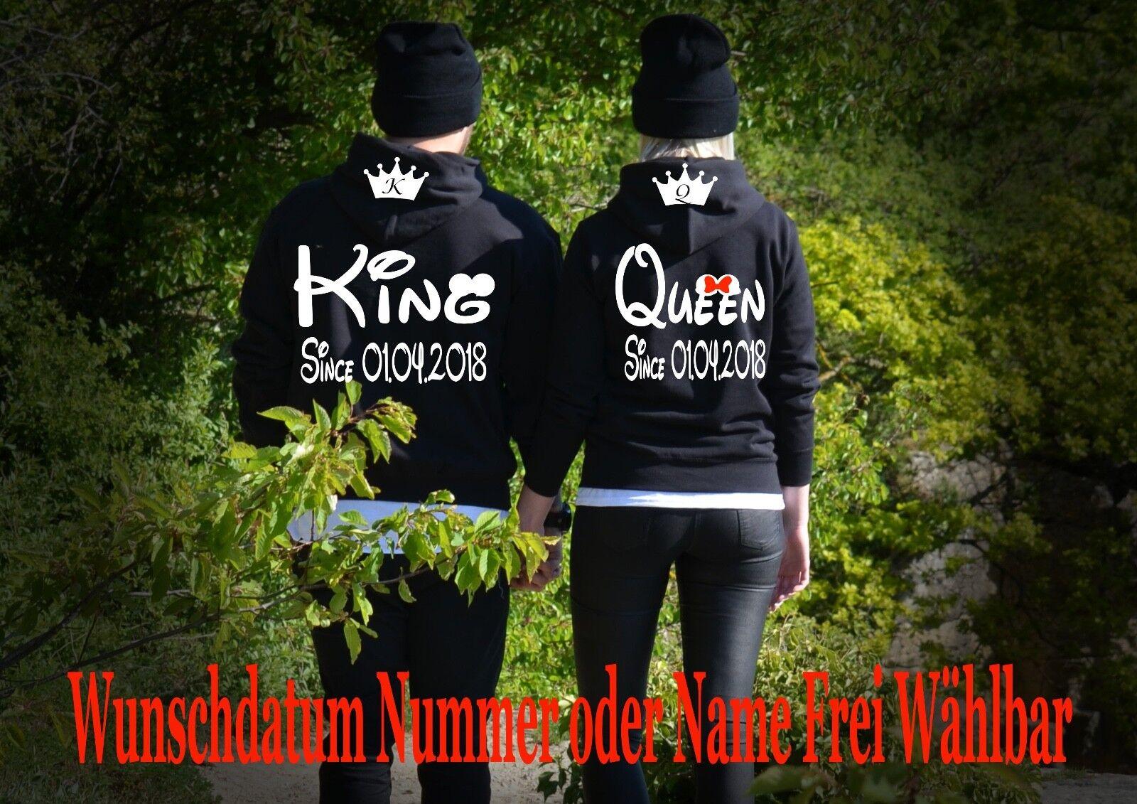 Hoodie Pullover Pullover Pullover King Queen Motiv Partner Look Pärchen 2Stk XS - 5XL Unicorn Love | Um Eine Hohe Bewunderung Gewinnen Und Ist Weit Verbreitet Trusted In-und   | Lebhaft und liebenswert  | Feinbearbeitung  5229f9