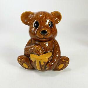 Vintage Ceramic Bear Honey Jar