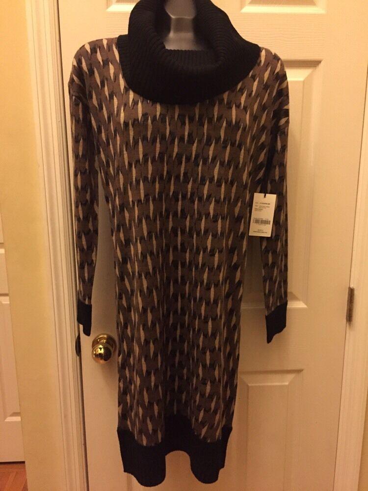 Worth New York 100% Wool Sweater Dress Sz M