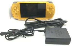 Sony-PSP-3000-Launch-Edition-Bright-Yellow-Handheld-System-Console-Excellent