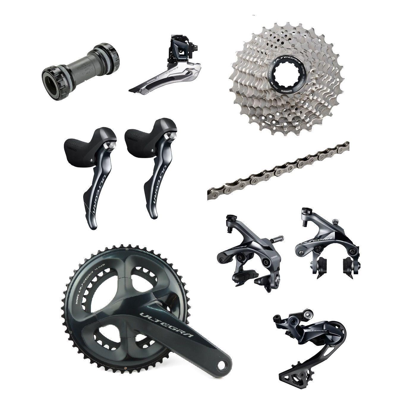 Shimano Ultegra R8000 2 x 11 Speed 50 34T Road Racing Bike Groupset Build Kit