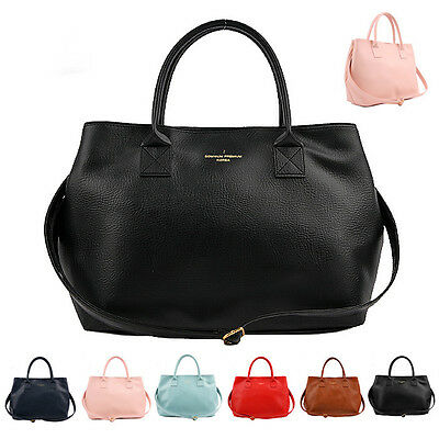 NEW Womens bag Shoulder bag Tote Satchel Cross Body Handbag Faux Leather