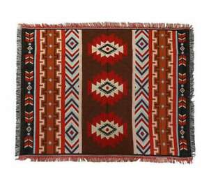Tribal Aztec Tel Throw Blanket Boho