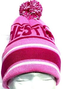 Image is loading Manchester-City-Hat-Bobble-Pom-Pom-Hat-Pink- 7fef3cde803e