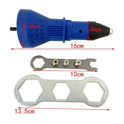 Electric Rivet Nut Gun Cordless Riveting Tool Insert Nut Adaptor Drill Adapter