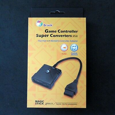 New BROOK Super Converter PS3, PS4 Controller to NEO GEO for Console