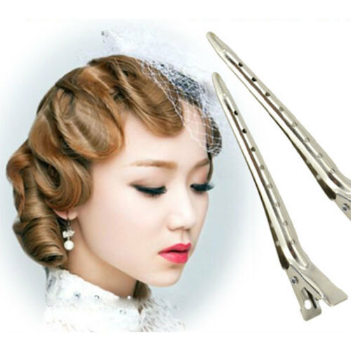 Hot 10X Professional Salon Metal Silver Hairdressing Mouth Alligator Hair Clips