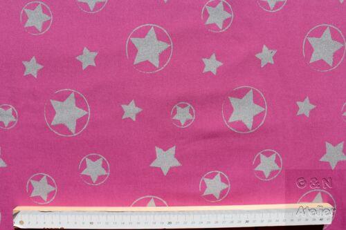 reflektierend Sterne pink Softshell bedruckt 145 cm