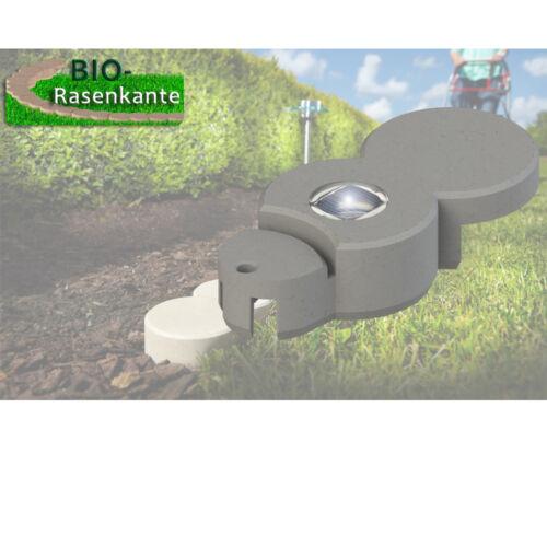 BIO Rasenkante Solar LED-Stein Garten Beetumrandung Raseneinfassung Mähkante