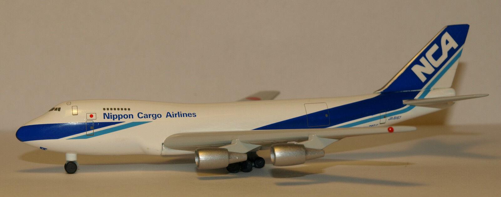 Herpa Wings 1 500 Nippon Cargo NCA Boeing 747-200F prod id 502566 released 1999