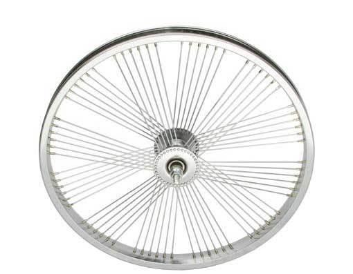 LOW RIDER LOWRIDER BIKE BICYCLE 20  Fan 72 Spoke Front Wheel 14G Chrome