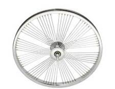 "LOW RIDER LOWRIDER BIKE BICYCLE 16/"" 72 Spoke Front Wheel 14G Chrome"