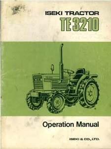 iseki tractor te3210 operators manual ebay rh ebay co uk iseki tractor manual download tu1700f iseki tractor manual pdf