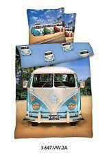 LINON BETTWÄSCHE 135x200+80x80 VW BUS NEU/OVP 100% BAUMWOLLE VOLKSWAGEN BULLI T1